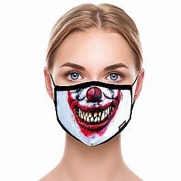 Adult Face Mask - Evil Clown
