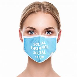 Adult Face Mask - Social Distance Social Club
