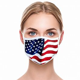 Adult Face Mask - USA Flag