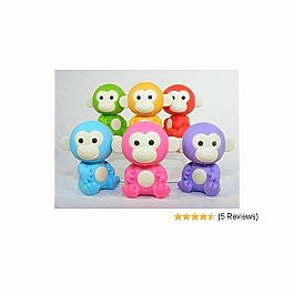 Monkey Erasers-6 Colors-60