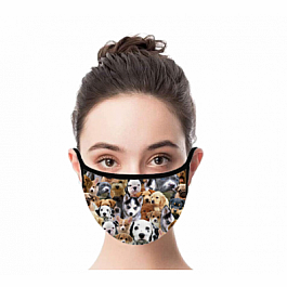 Adult Face Mask - Puppies