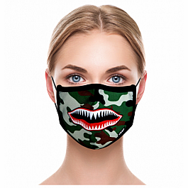 Adult Face Mask - Warplane