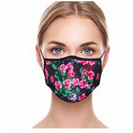 Adult Face Mask - Pink Flowers